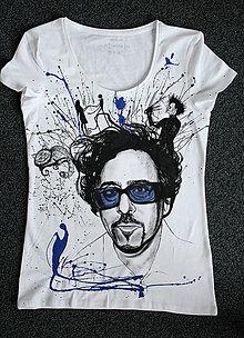 Tričká - Maľované tričko Tim Burton - 7291429_