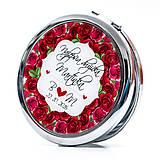 Zrkadielko pre najlepšiu družičku - motív ruží