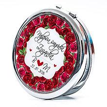 Zrkadielka - Zrkadielko pre švagrinú - motív ruží - 7292025_