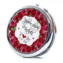 Zrkadielka - Zrkadielko pre najlepšiu družičku - motív ruží - 7292049_