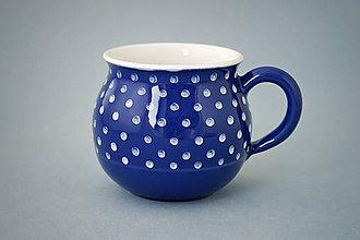 Nádoby - Buclák 9 cm puntík - modrý objem cca 0,4l - 7290250_