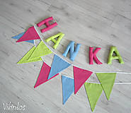 Detské doplnky - Vlajky ...pre dievča - 7291703_