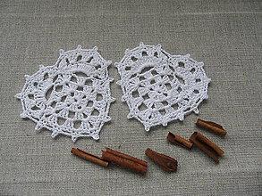 Dekorácie - Srdiečko biele, háčkované - 7289011_