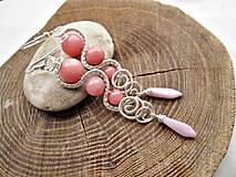 Náušnice - ružový jadeit - 7289744_