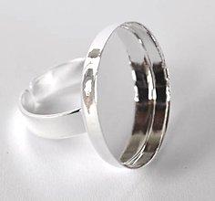 Komponenty - Prsteň lôžko, tvar kruh, farba strieborná /PL25/ - 7288836_