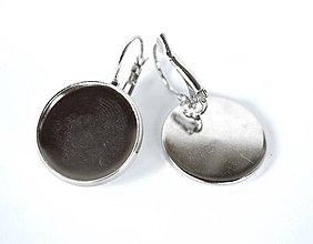 Komponenty - Lôžka na náušnice 20 mm platinová /NV20p/ - 7289929_