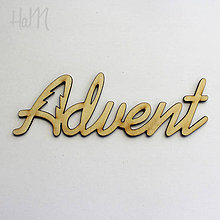 Polotovary - Drevený výrez Advent 15 cm - 7288410_