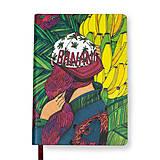 Papiernictvo - Zápisník A6 Banana Garden - 7288961_