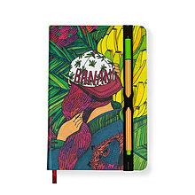 Papiernictvo - Zápisník A5 Banana Garden - 7288996_