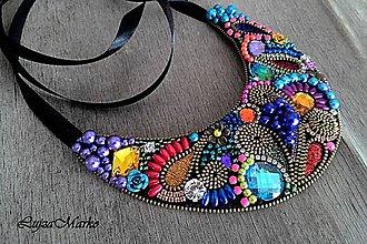 Náhrdelníky - Fantasy colors náhrdelník - 7289754_
