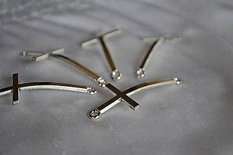 Komponenty - Medzikus kríž strieborný, 0.55€/ks - 7289155_