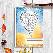 Papiernictvo - Zápisníky Farebná jeseň ((abstraktný) - list 7) - 7292701_