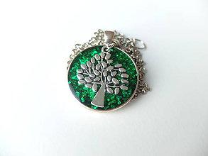 Náhrdelníky - Živicový náhrdelník Strom života III. - 7294969_