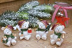 Iný materiál - Vianoční mackovia - 7295948_