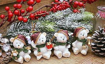 Iný materiál - Vianoční mackovia - 7295954_