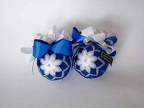 Dekorácie - Vianočná modrá sada 2ks - 7297160_