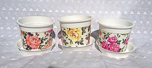 Nádoby - Sada 3 kvetináčov Ø 10 cm