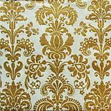 Papier - S860 - Servítky - zlatý ornament, filigrán - 7293897_