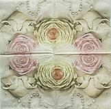 Papier - S868 - Servítky - svadba, ruža, hrdličky, srdce, wedding, láska, love - 7297000_