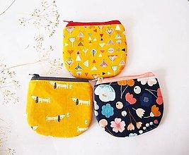 Peňaženky - Peňaženka - geometrické kvety na žltej - 7294123_