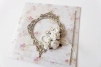 Papiernictvo - pohľadnica svadobná - 7294390_