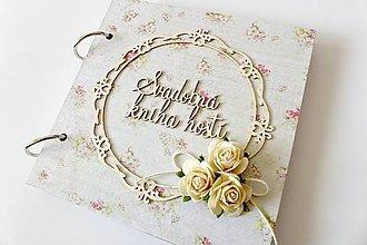 Papiernictvo - svadobná kniha hostí - 7294546_