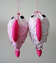 Detské tašky - VRECÚŠKO na hračky, (ružové) - 7297852_