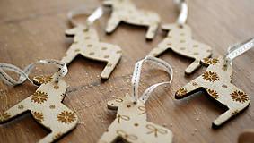 Dekorácie - Vianočná drevené ozdoba, kôň Dala - 7295748_