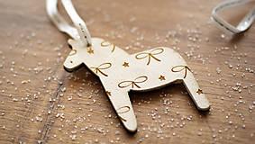 Dekorácie - Vianočná drevené ozdoba, kôň Dala - 7295751_