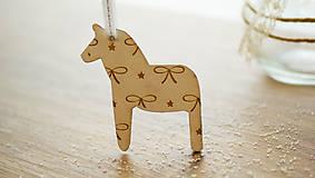 Dekorácie - Vianočná drevené ozdoba, kôň Dala - 7295753_