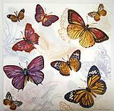 - Servítka D32- Motýle - 7297200_