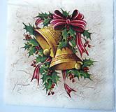 - Servítka Z12- Vianočné zvončeky - 7297393_