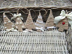 Dekorácie - Vianočné ozdoby Stromčeky - 7294932_