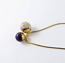 Náhrdelníky - Tana šperky - keramika/zlato - 7296910_