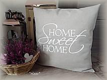 - Home Sweet Home obliečka biela - 7297165_
