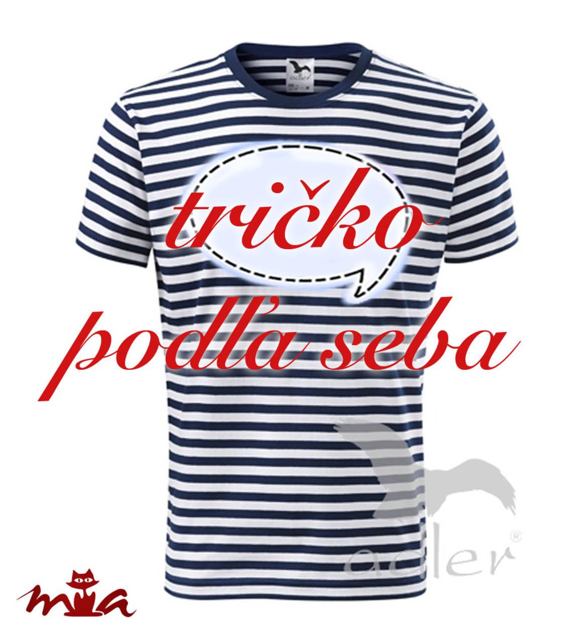 3f8357f4890 Pánske tričko s vlastným nápisom   miriammiklasova - SAShE.sk ...