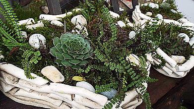 Nádoby - Keramický prírodný črepník - 7296239_