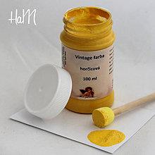 Farby-laky - Vintage farba 100 ml - horčicová - 7295766_