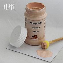 Farby-laky - Vintage farba 100 ml - krémová - 7295778_