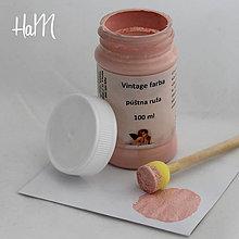 Farby-laky - Vintage farba 100 ml - púštna ruža - 7295796_