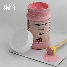 Farby-laky - Vintage farba 100 ml - ružová - 7295816_
