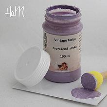 Farby-laky - Vintage farba 100 ml - zaprášená slivka - 7295830_