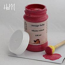 Farby-laky - Vintage farba 100 ml - hlboko ružová - 7295835_