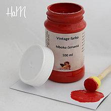 Farby-laky - Vintage farba 100 ml - hlboko červená - 7295840_