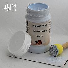 Farby-laky - Vintage farba 100 ml - hmlisto modrá - 7295848_