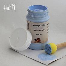 Farby-laky - Vintage farba 100 ml - ranná modrá - 7295851_