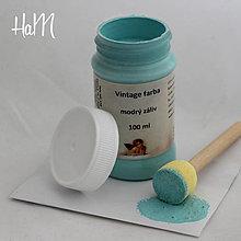 Farby-laky - Vintage farba 100 ml - modrý záliv - 7295884_