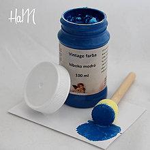 Farby-laky - Vintage farba 100 ml - hlboko modrá - 7295886_