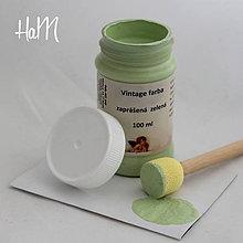 Farby-laky - Vintage farba 100 ml - zaprášená zelená - 7295891_