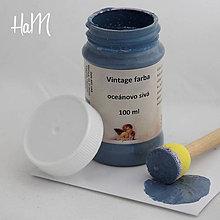 Farby-laky - Vintage farba 100 ml - oceánovo sivá - 7295927_